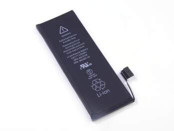 Apple iPhone 5s battery, image courtesy of iFixit.