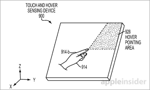 Apple patents a hover touch panel and embedded heart rate monitor