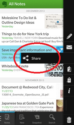 Update adds share feature to app