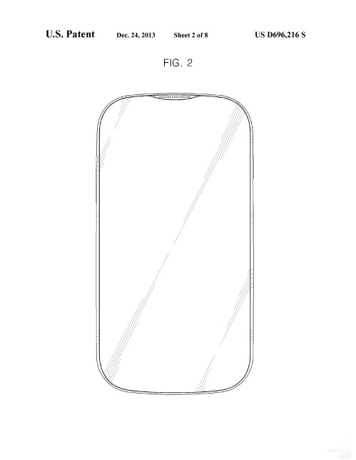 A vertically flexed Samsung phone