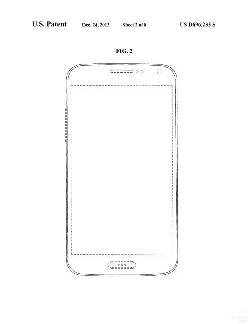 Possible Samsung smartphone design #1