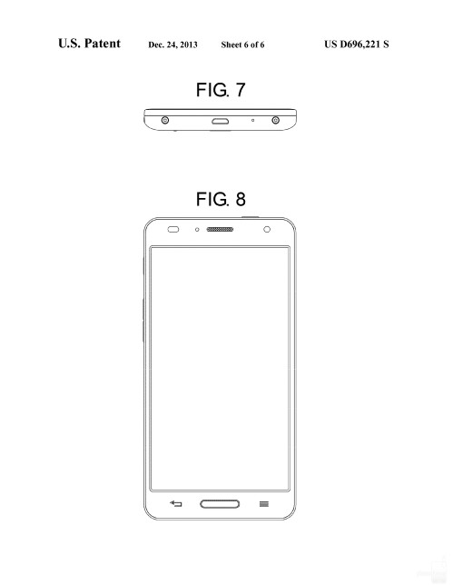 Possible Samsung smartphone design #2