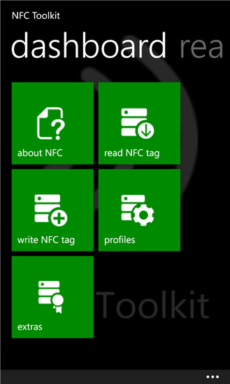 NFC Toolkit for Windows Phone 8 screenshots