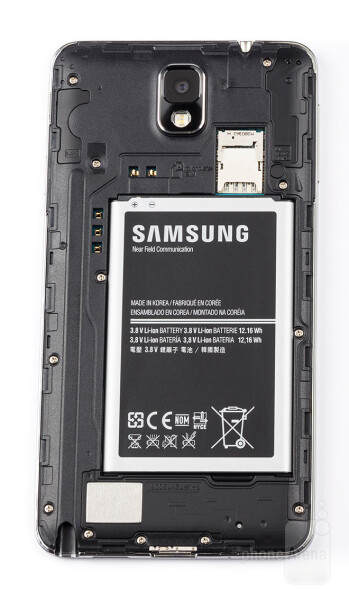 The Galaxy Note 3 features a user-removeable battery.