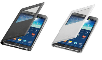 The Samsung Wireless Charging S-View flip cover is available in black or white