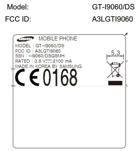Samsung Galaxy Grand Lite GT-I9060 swings by the FCC