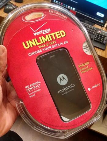 The Motorola Moto G's retail packaging is leaked