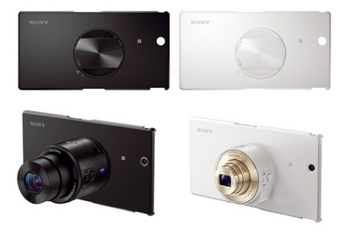 Sony's hard case for the Sony Xperia Z Ultra and the QX10 and QX100 lens cameras