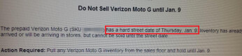 Leaked Verizon memo reveals January 9th release date for the Motorola Moto G