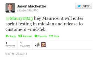 HTC's Mackenzie reveals Android 4.3 update schedule for the HTC EVO 4G LTE