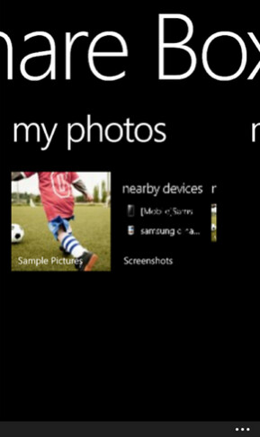 Screenshots from two exclusive apps for Samsung's Windows Phone handsets