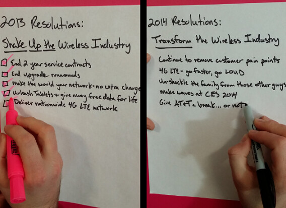 T-Mobile CEO John Legere writes out his 2014 resolutions for the carrier - John Legere reveals his 2014 resolutions for T-Mobile