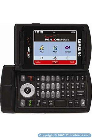 Verizon to launch messaging Samsung SCH-U740 phone