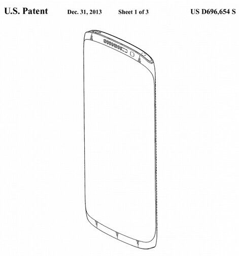 Samsung design patent filing could reveal the looks of the Samsung Galaxy S5 or Samsung Galaxy Note 4