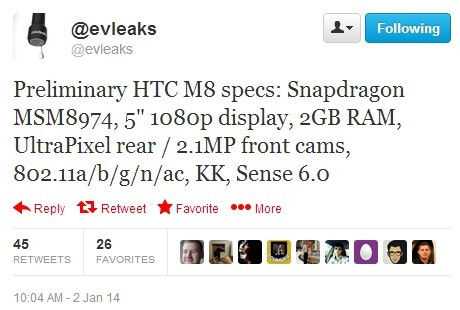 New preliminary HTC M8 (One 2) specs don't paint an exciting picture
