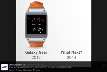 Samsung seems to be teasing a new Galaxy Gear smartwatch on Twitter