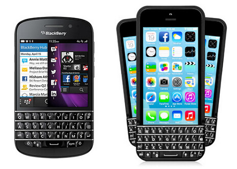 BlackBerry is suing Typo (R) for stealing the design from its QWERTY keyboards - It's not a Typo; BlackBerry sues Seacrest funded QWERTY for the Apple iPhone