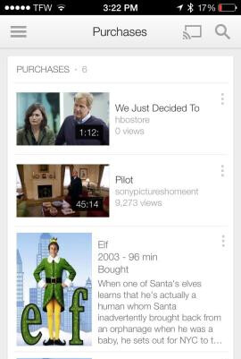 Use YouTube for iOS to watch your Google Play purchased videos on your iPhone or iPad