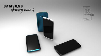 Concept models of Samsung Galaxy S5 and SamsungGalaxy Note 4 based on Samsung's design patent