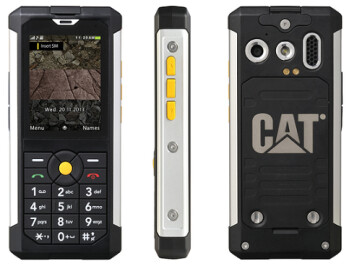 The CAT B100 is a feature phone that will take a pounding