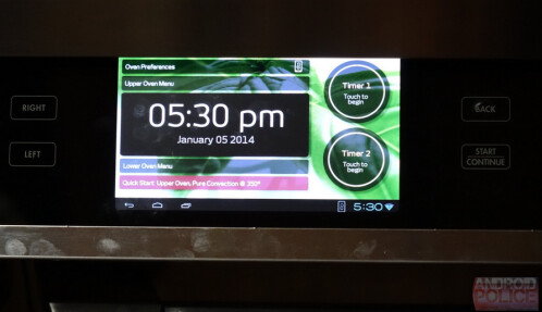 Dacor's 48inch range includes a 7 inch Android tablet