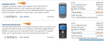 Cingular launches couple of 3G Windows smartphones