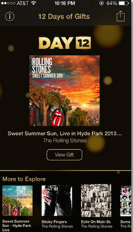 Apple's 12 Free Days of Gifts concludes with an album by the Rolling Stones