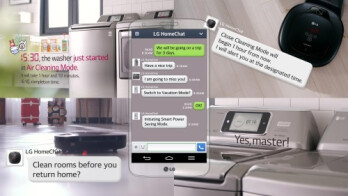 LG HomeChat – you text, the appliances listen