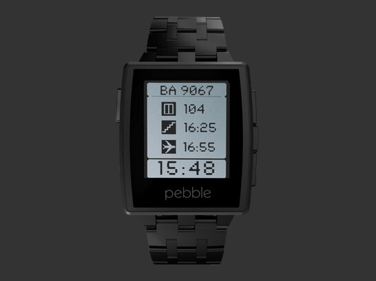 Black Matte - Pebble Steel announced: a sylish smartwatch for $249