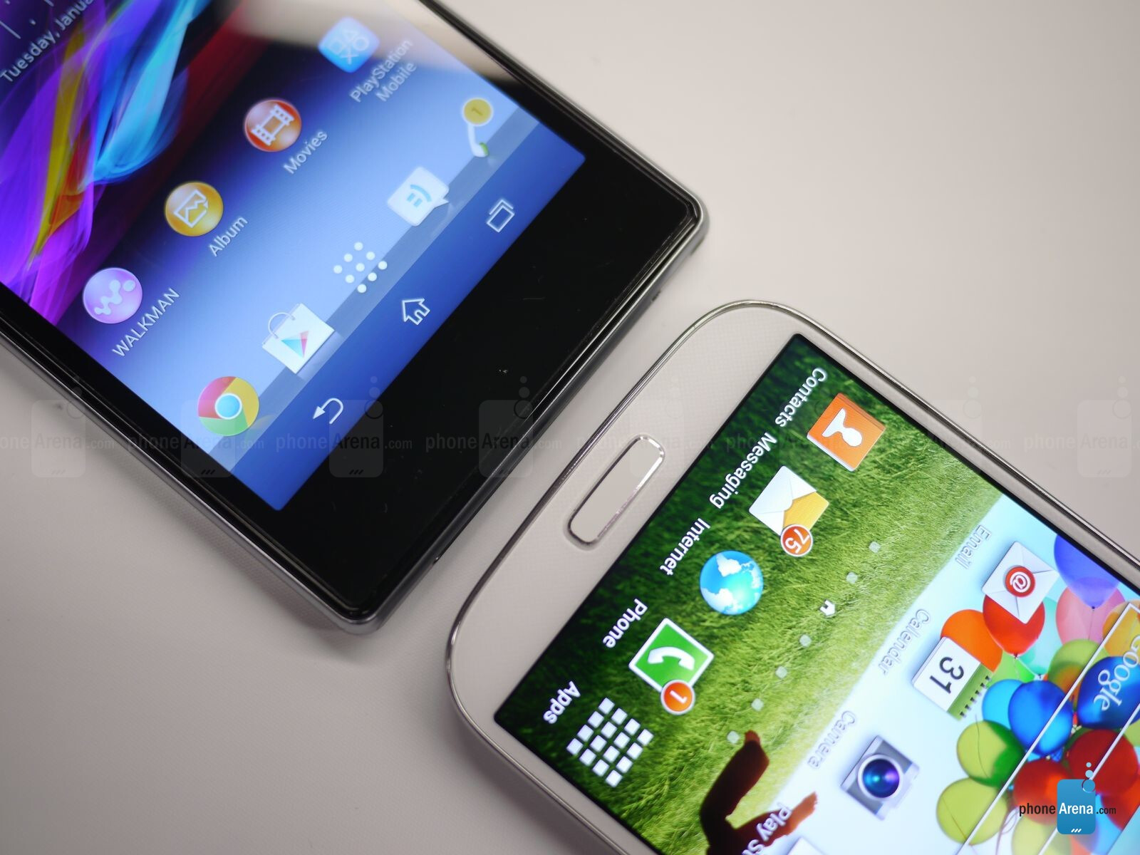 Sony Xperia Z1S vs Samsung Galaxy S4: first look ...