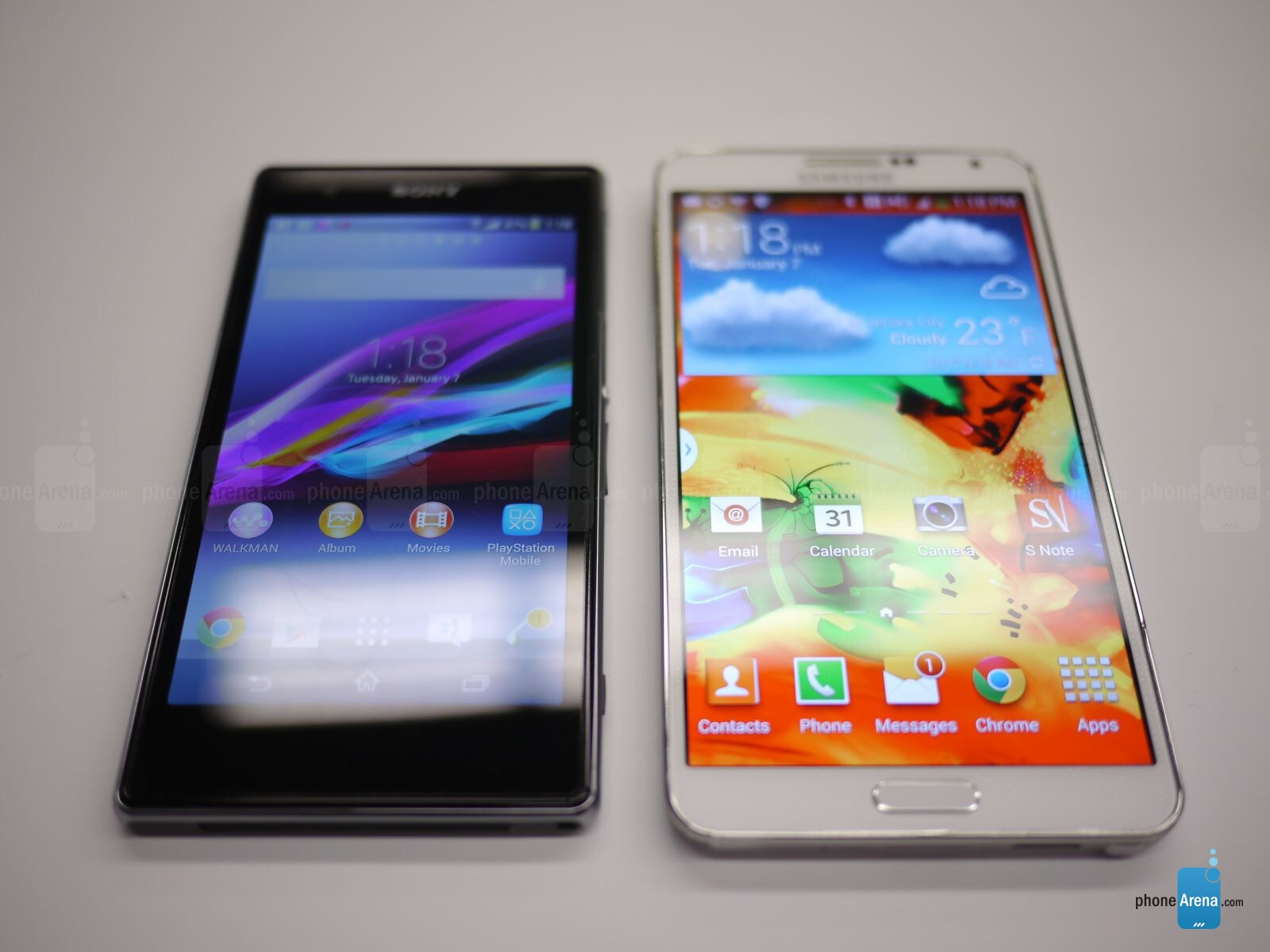 Sony Xperia Z1S vs Samsung Galaxy Note 3: first look ...