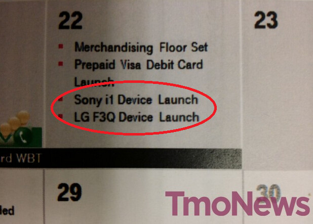Leaked internal calendar shows January 22nd launch date for both phones