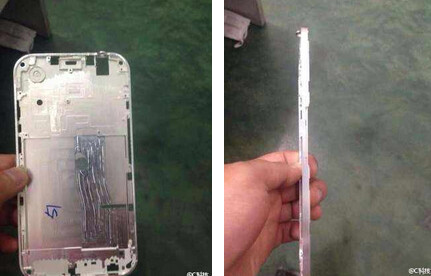 Pictures allegedly of the Apple iPhone 6 housing - Images reportedly show metal housing for Apple iPhone 6 aka Apple iPhone Air