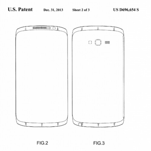 Official patent sketches by Samsung
