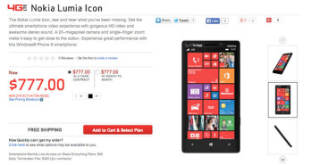 Nokia Lumia Icon (929) briefly listed at Verizon's website with a hefty price attached