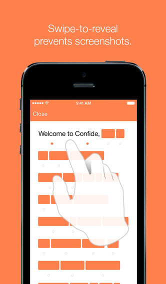 Confide for iOS screenshots