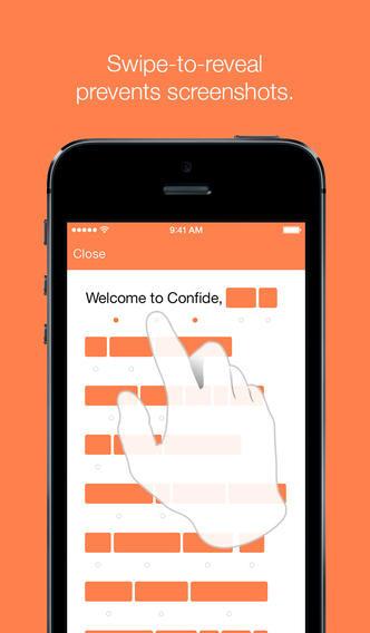 Confide for iOS screenshots