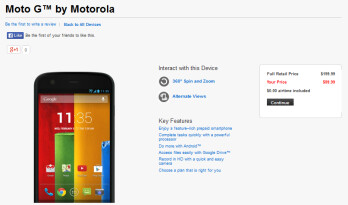 Verizon is now selling the Motorola Moto G online for $99.99