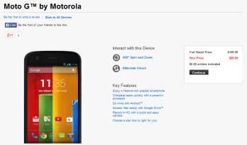 Verizon is now selling the Motorola Moto G online for $99.99