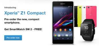Pre-order the Sony Xperia Z1 Compact in the U.K. and get a free Sony Smartwatch 2