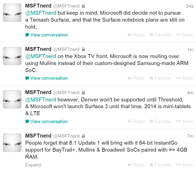 Surface 3 to come equipped with the new Tegra K1 processor, Surface Mini in the works