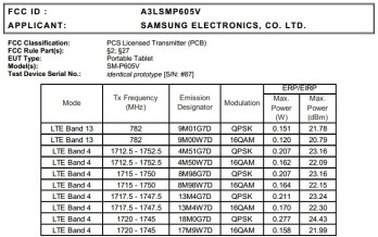 Samsung Galaxy Note 10.1 2014 (SM-P605V) with Verizon LTE hits the FCC