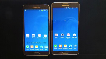Samsung's hexa-core Galaxy Note 3 Neo pictured next to the original Note 3?