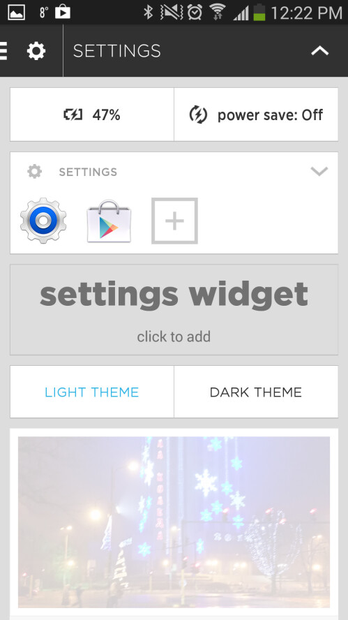 You can pick between a light and dark theme
