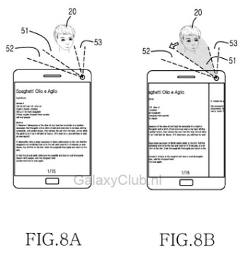 Samsung's European patent hints at gesture controls for the Samsung Galaxy S5 using movements of the head