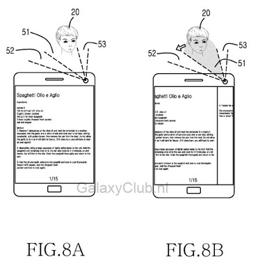 Samsung's European patent hints at gesture controls for the Samsung Galaxy S5 using movements of the head - New gesture controls coming to Samsung Galaxy S5?
