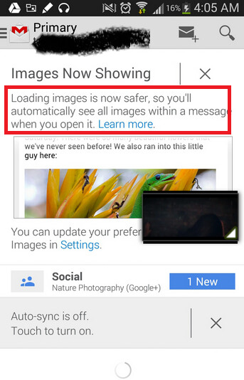 Gmail update will now allow images to load on your messages automatically