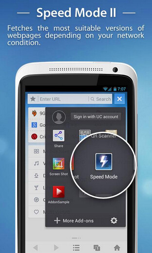 UC Browser gets updated to improve the third party browser's speed
