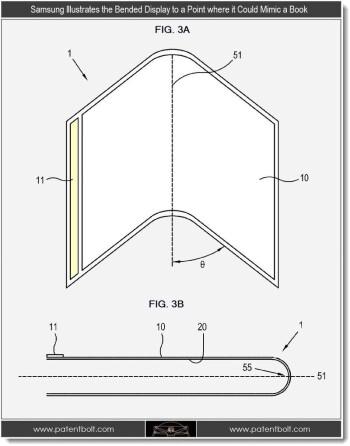 Samsung foldable display patent diagram