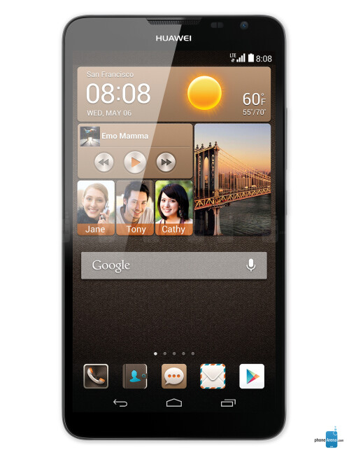 The 6.1-inch Huawei Ascend Mate 1 and 2